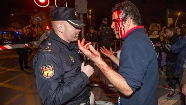 Herido en la manifestación del 8M en Murcia