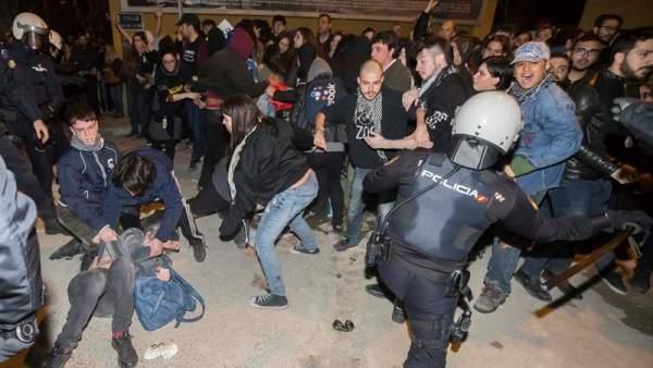 Altercados en la manifestación del 8M en Murcia