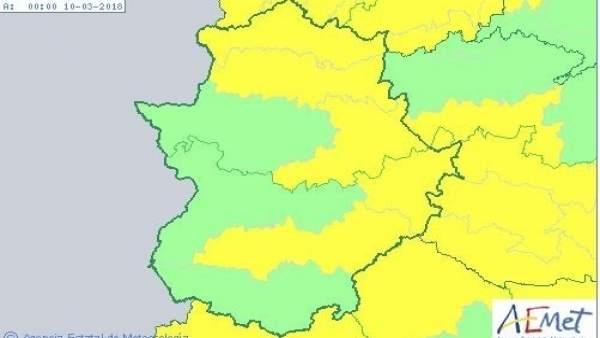 Avisos meteorológicos para el viernes en Extremadura