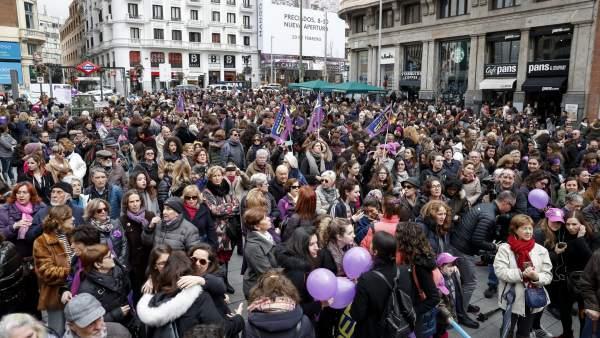 Seguimiento de la huelga del 8 de marzo.