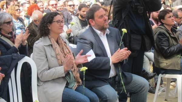 M.Rovira y O.Junqueras, ERC.