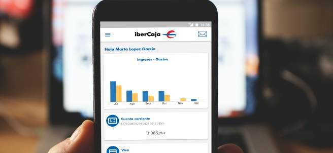 App de Ibercaja en un teléfono móvil