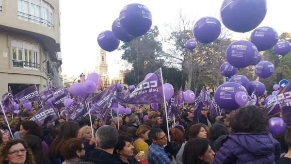 Manifestación del 8 de Marzo en València