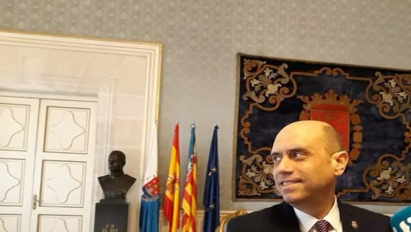 El alcalde de Alicante, Gabriel Echávarri, este miércoles