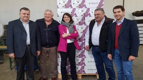 Ríos y Zurera (izda.) visitan Proaco