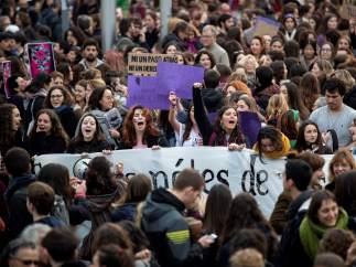 Manifestación feminista del 8 de marzo de 2018 en Madrid