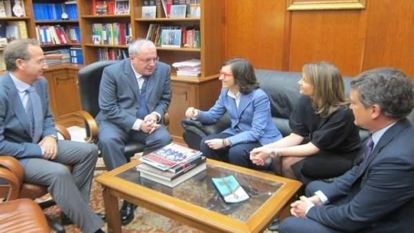 Reunión entre alcalde de Jaén y consejera de Justicia