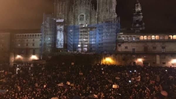 Manifestación 8 marzo en Santiago / Cedida Anova