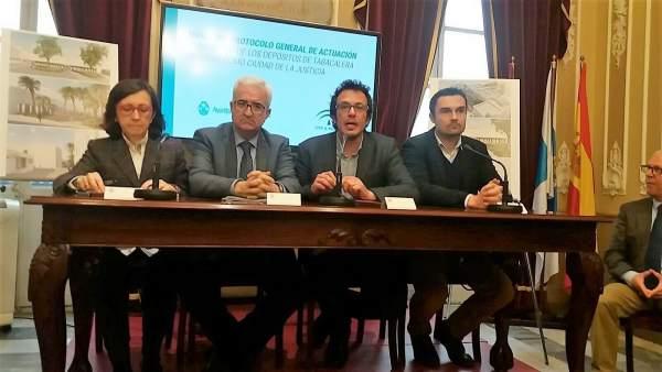 Firma protocolo Ciudad de la Justicia de Cádiz