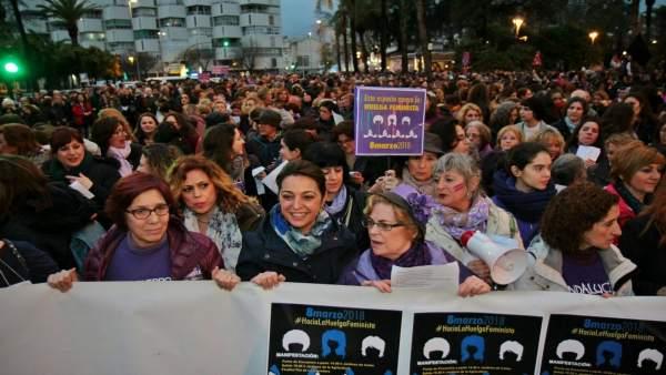 Manifestación del 8 de marzo de 2018 en Córdoba por el Día de la Mujer