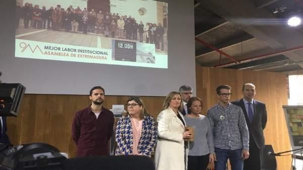 Blanca Martín en la recogida del premio