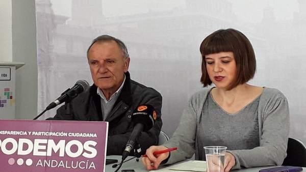 José Eras y Lucía Ayala, en rueda de prensa