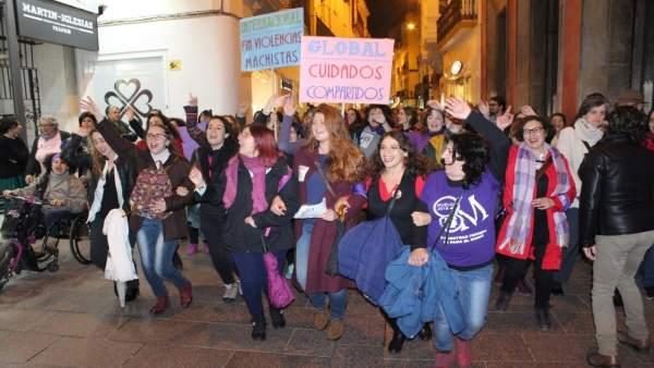Susana Serrano en la manifestación