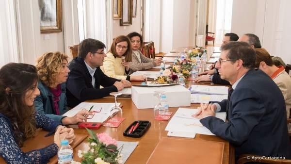 ALCALDDESA ECARTAGENA EN LA Reunión De La Junta De Gobierno Local