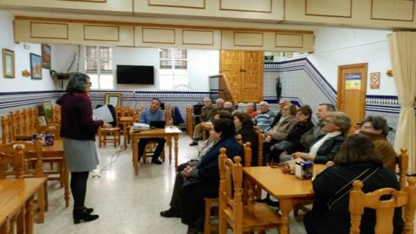 Jornada de Mayores en Niebla organizada por la Diputación de Huelva.