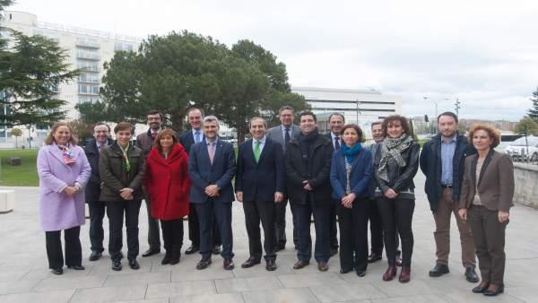 El Consejo Rectoral de la UPNA visita la Universidad de Navarra.