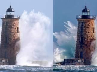 Polémica por dos imágenes tomadas en el mismo segundo y lugar.