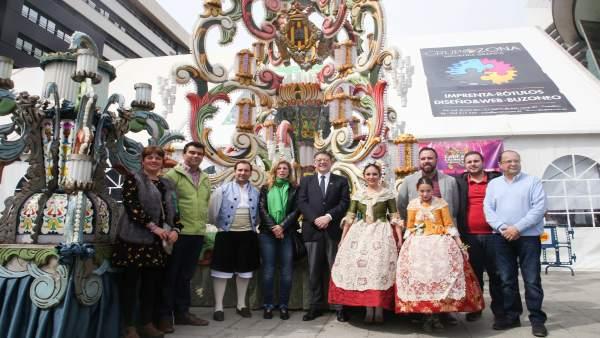 Ximo Puig y Amparo Marco visitan la Gaiata 18