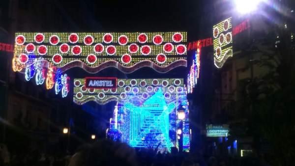 Iluminación de la Falla Cuba Literato Azorín 2018
