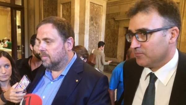Oriol Junqueras y Lluís Salvadó