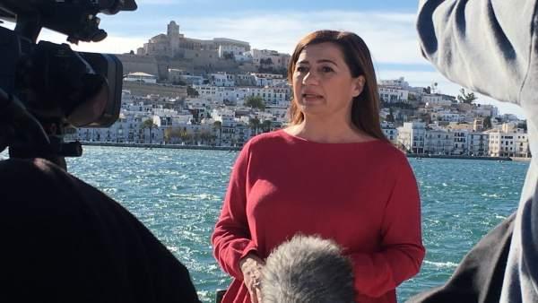 Francina Armengol en Ibiza