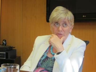 La consellera de Enseñanza, Clara Ponsatí