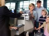 el mostrador del auto check-in