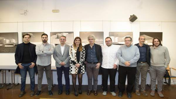 Inauguración de la exposición sobre la rehabilitación del Torreón de San Miguel