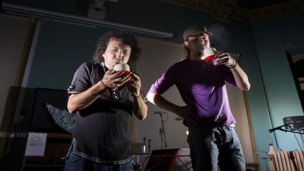 Nicolás Mora y Héctor Castellanos.