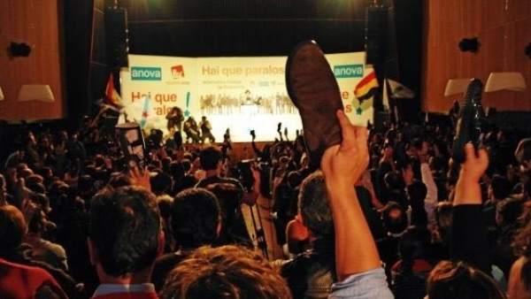 Mitin de AGE en 2012 'ejército zapatista'
