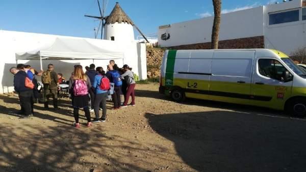Dispositivo de búsqueda del niño Gabriel en Níjar (Almería)
