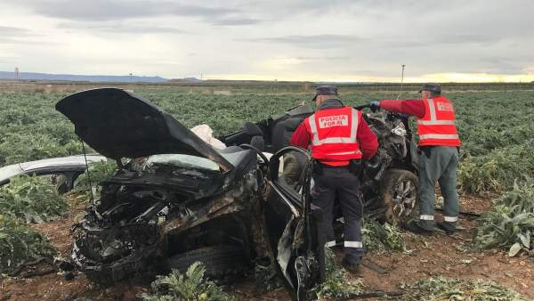 Accidente de tráfico en Ablitas