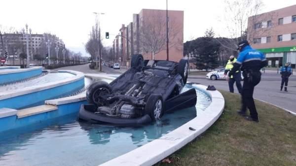 Valladolid.- Estado en el que acabó el vehículo
