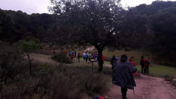 Marcha por apertura de vías pecuarias en la Sierra de Andújar