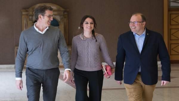Alberto Núñez Feijóo, Andrea Levy, Miguel Tellado