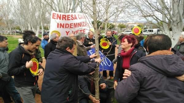 Concentración de la Asamblea Antinuclear de Córdoba