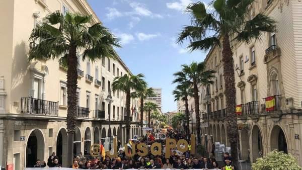 Manifestación por equiparación salarial para Policía y Guardia Civil en Huelva