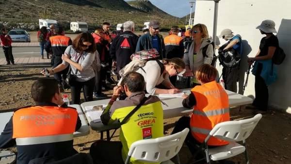 Voluntarios que participaron en la búsqueda de Gabriel