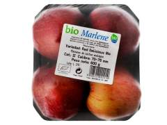 Fruta y verdura ecológica envasada en plástico