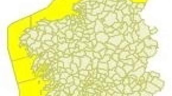 Aviso amarrillo en el litoral gallego.