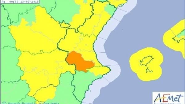 La Comunitat Valenciana segueix en avís aquest dilluns per vents que poden arribar a ratxes de 90 km/h