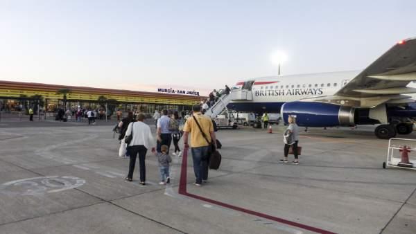 Imagen del aeropuerto de San Javier