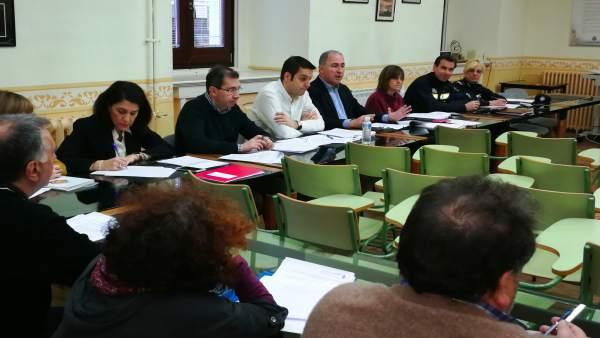 Reunión de la mesa de negociación en el Ayuntamiento de Valladolid