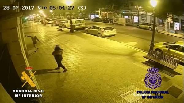 Dos detenidos por hacer pintadas en Burgos. 12 de marzo