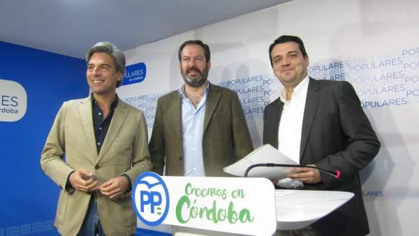 Adolfo Molina, Andrés Lorite y José María Bellido