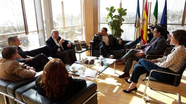 Encuentro presidente de la Diputación de Málaga con Secretario Estado Hacienda