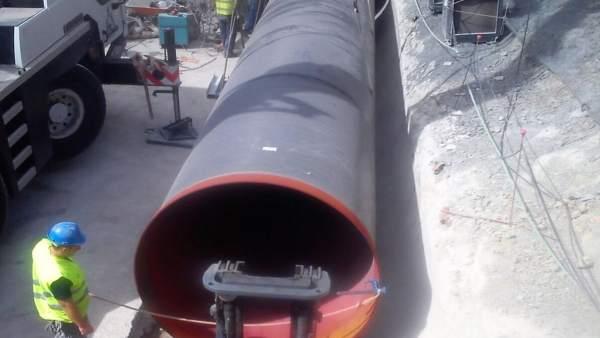 Obras de conducciones de agua en Algeciras