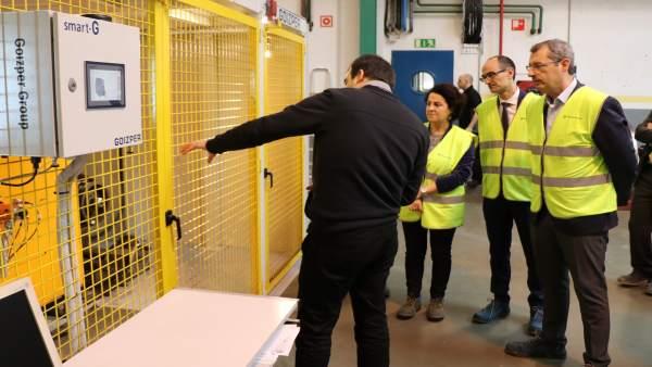 Markel Olano visita la cooperativa Goizper