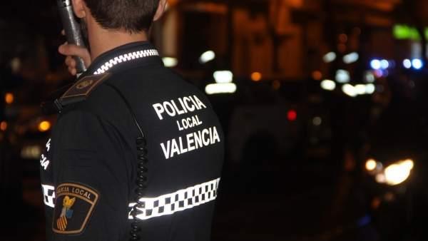Imagen de archivo de agentes de la Policía Local de València