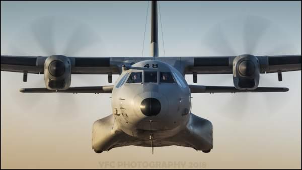 Avión C295 ala 35 ejercito del aire maniobra vuelo